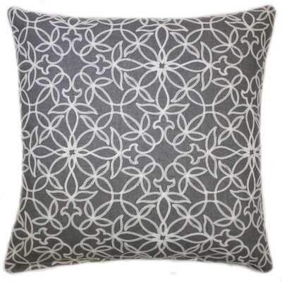 Harley Embroidered Throw Pillow Color: Gray