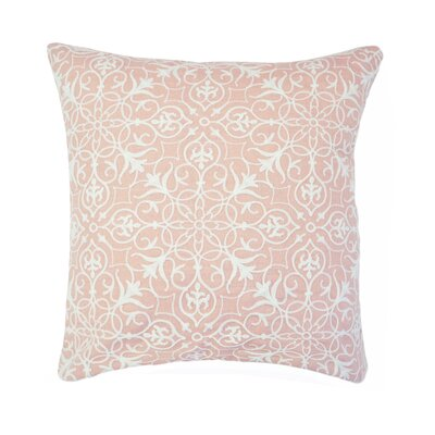Nelia Embroidered Throw Pillow Color: Blush
