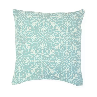 Nelia Embroidered Throw Pillow Color: Sea Foam