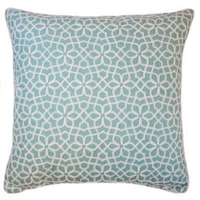 Nelida Embroidered Chain Stitch Throw Pillow Color: Sea Foam