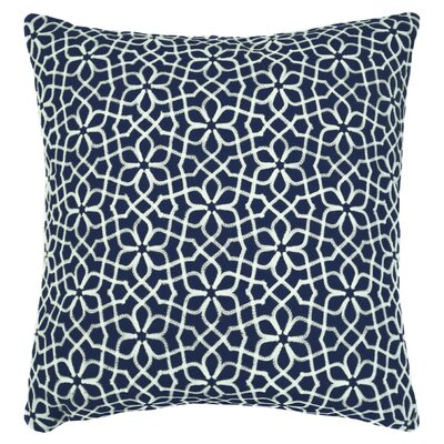 Nelida Embroidered Chain Stitch Throw Pillow Color: Navy