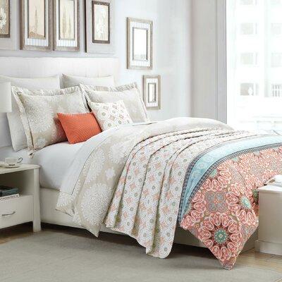Durand 6 Piece Reversible Comforter Set Size: King