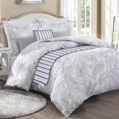 Englehart 3 Piece Reversible Duvet Set Size: Queen