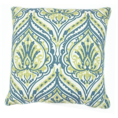Embroidered Chain Stitch Spade Throw Pillow Color: Seabreeze