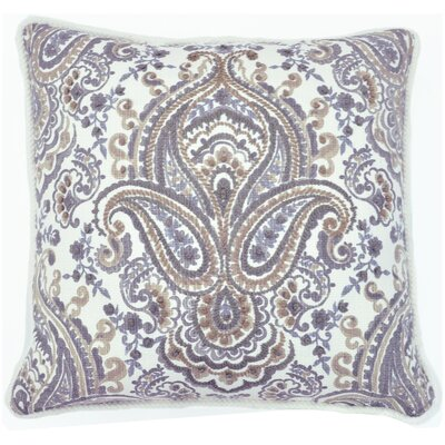 Anglesey Embroidered Cotton Throw Pillow