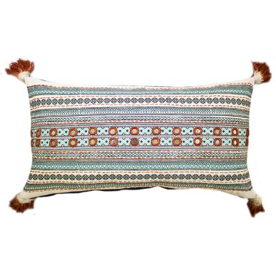Lovington Cotton Lumbar Pillow Color: Blue