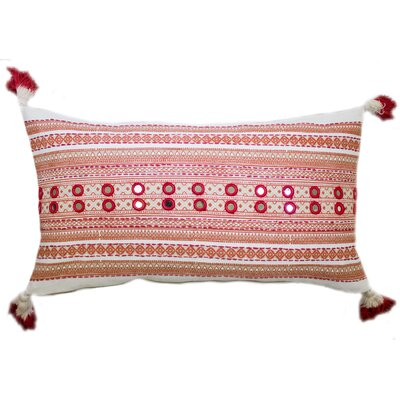 Lovington Cotton Lumbar Pillow Color: Coral