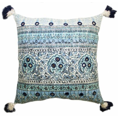 Lowe Cotton Throw Pillow Color: Blue