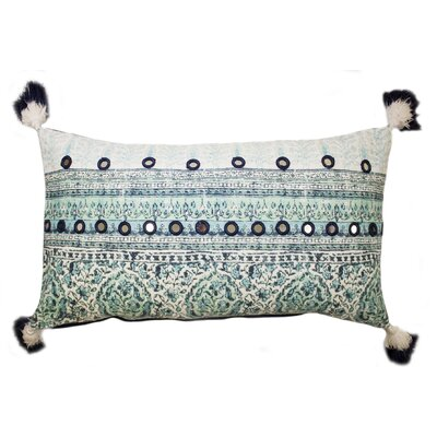 Lowe Cotton Lumbar Pillow Color: Blue