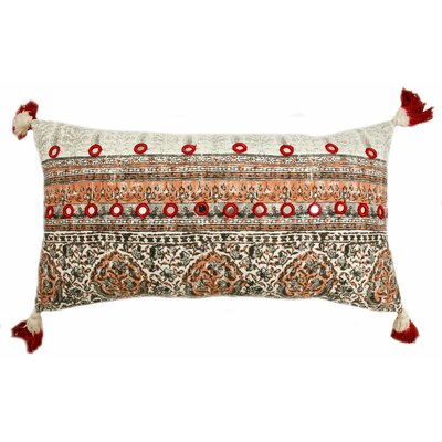 Lowe Cotton Lumbar Pillow Color: Coral