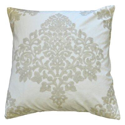 Embroidered Velvet Decorative 100% Cotton Throw Pillow