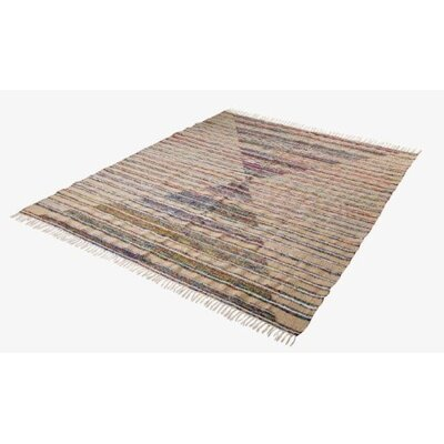 Multi Striped Tan Area Rug Rug Size: 4 x 6