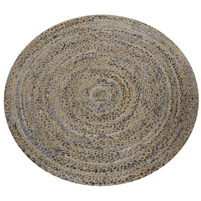 Circle Gradient Denim Area Rug Rug Size: Round 9