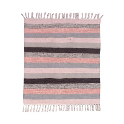 Multi Striped Pink Area Rug Rug Size: 2.3 x 6.5