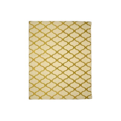 Fish Net Dark Gold Area Rug Rug Size: 5 x 8