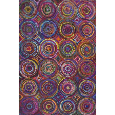 Multiple Circle Pink/Green Area Rug Rug Size: 5 x 8