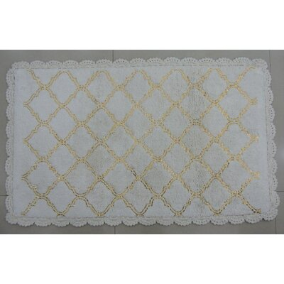 Cross Hatch Foil Bath Rug
