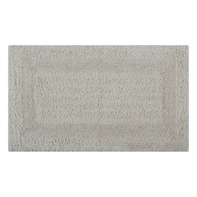 Reversible Single Border Bath Rug Size: 34 L x 21 W, Color: Ivory