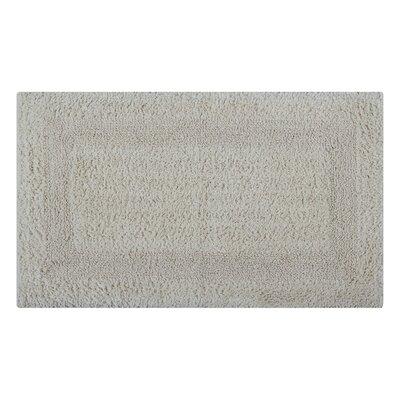 Reversible Single Border Bath Rug Size: 24 L x 17 W, Color: Ivory