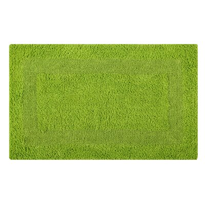Reversible Single Border Bath Rug Size: 24 L x 17 W, Color: Lime