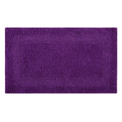 Reversible Single Border Bath Rug Size: 34 L x 21 W, Color: Purple