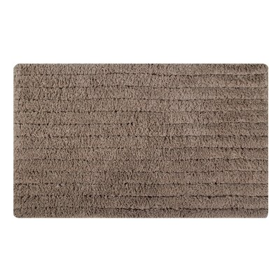 Horizontal Striped Bath Rug Size: 34 L x 21 W, Color: Taupe