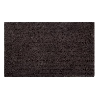 Horizontal Striped Bath Rug Size: 24 L x 17 W, Color: Chocolate