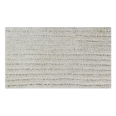 Horizontal Striped Bath Rug Size: 24 L x 17 W, Color: Ivory