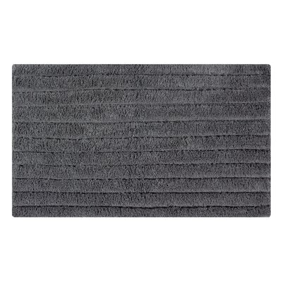 Horizontal Striped Bath Rug Size: 34 L x 21 W, Color: Spruce Gray