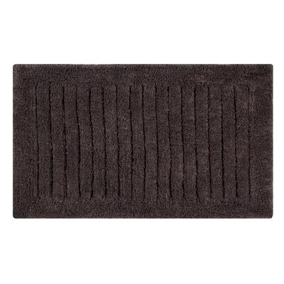 Vertical Striped Bath Rug Size: 34 L x 21 W, Color: Chocolate