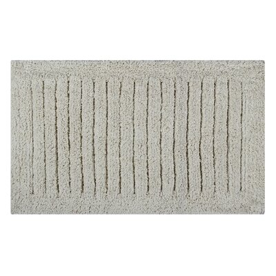 Vertical Striped Bath Rug Size: 34 L x 21 W, Color: Ivory
