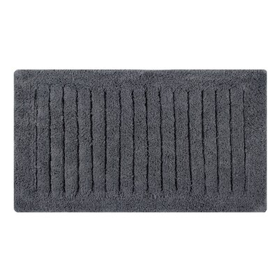 Vertical Striped Bath Rug Size: 45 L x 27 W, Color: Spruce Gray
