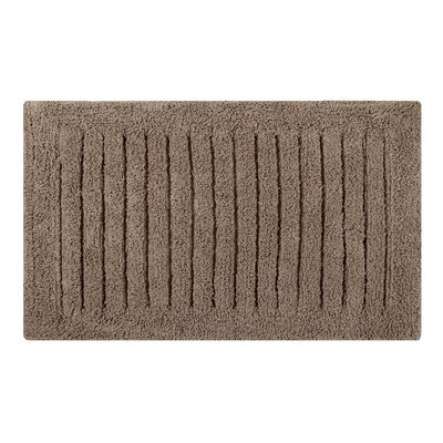 Vertical Striped Bath Rug Size: 24 L x 17 W, Color: Taupe