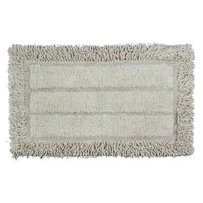 Shag Border Bath Rug Size: 24 L x 17 W, Color: Ivory