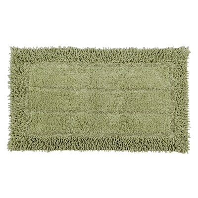 Shag Border Bath Rug Size: 24 L x 17 W, Color: Sage