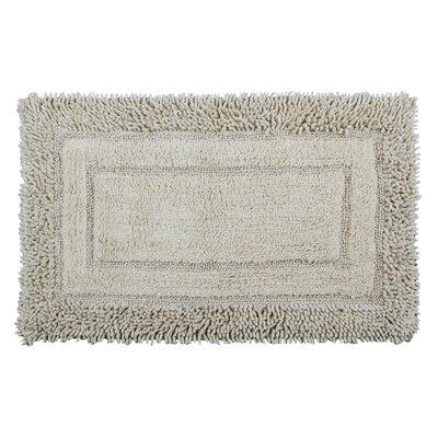 Shag Border Bath Rug Size: 34 L x 21 W, Color: Ivory