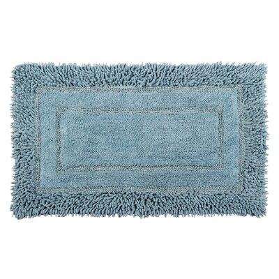 Shag Border Bath Rug Size: 45 L x 27 W, Color: Cotton Sky