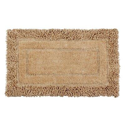 Shag Border Bath Rug Size: 45 L x 27 W, Color: Tan