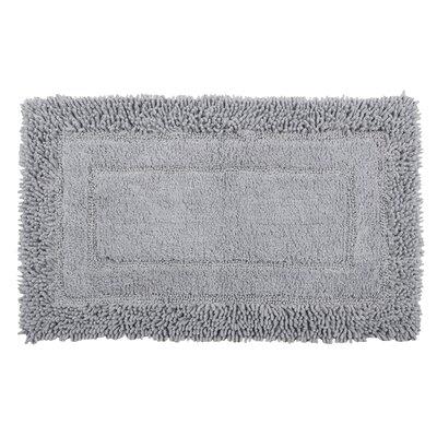 Shag Border Bath Rug Color: Frost Gray, Size: 45 L x 27 W