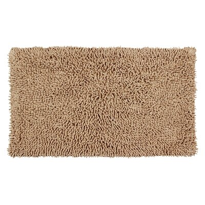 Completely Shag Bath Rug Size: 24 L x 17 W, Color: Tan