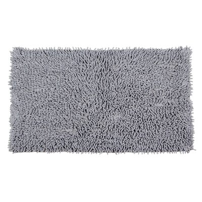 Completely Shag Bath Rug Color: Frost Gray, Size: 45 L x 27 W