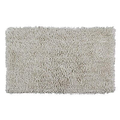 Completely Shag Bath Rug Size: 24 L x 17 W, Color: Ivory