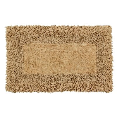 Thick Shag Border Bath Rug Size: 34 L x 21 W, Color: Tan