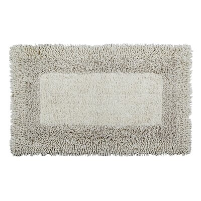 Thick Shag Border Bath Rug Size: 24 L x 17 W, Color: Ivory