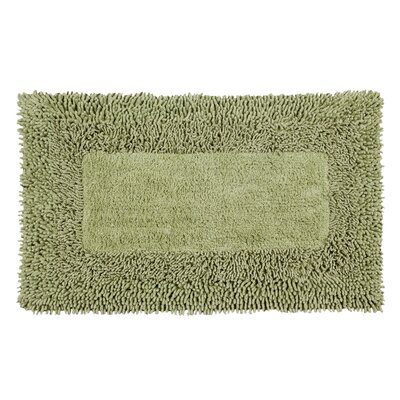 Thick Shag Border Bath Rug Size: 34 L x 21 W, Color: Sage