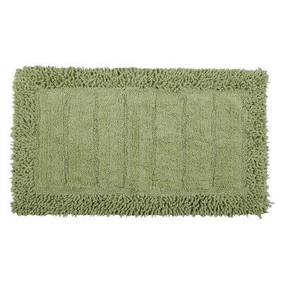 Shag Border Bath Rug Size: 34 L x 21 W, Color: Sage
