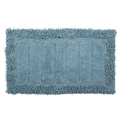 Shag Border Bath Rug Size: 34 L x 21 W, Color: Cotton Sky