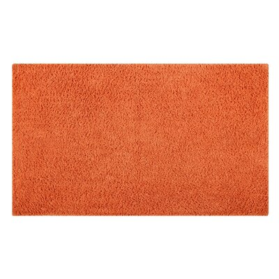 Plain Reversible Bath Rug Size: 34 L x 21 W, Color: Orange