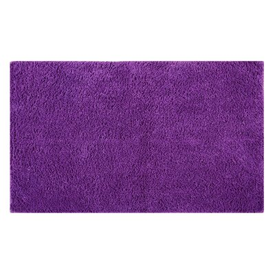 Plain Reversible Bath Rug Size: 34 L x 21 W, Color: Purple