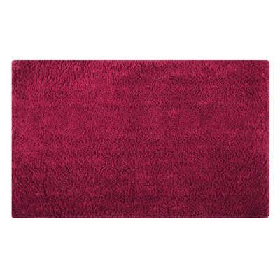Plain Reversible Bath Rug Size: 24 L x 17 W, Color: Scarlet